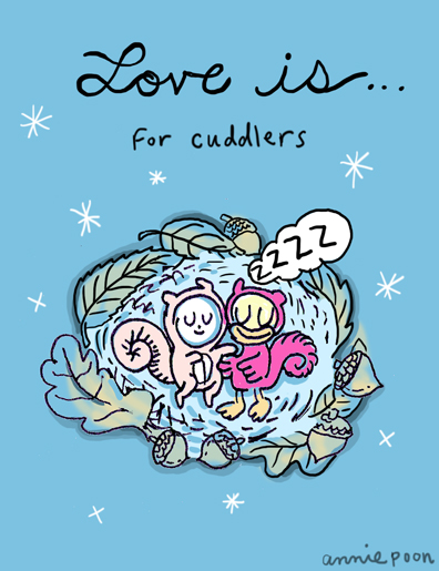 Love is:  for cuddlers